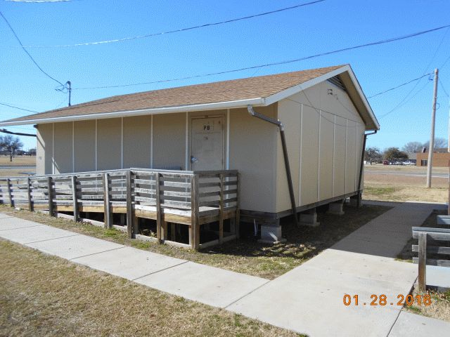 Madison Middle School Portable Classroom Building #12; EXTERIOR: 24 Ft. X  32 Ft., Wood Frame, Gable Roof, Wood Floor, Metal/Wood Composite Siding, ...
